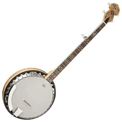 Oscar Schmidt OB5SP Spalted Maple 5-String Banjo
