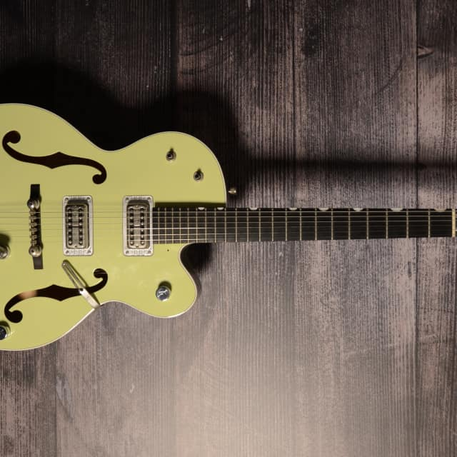 Gretsch 6118T Anniversary Green Electric Guitar With Original Hard Shell Case image