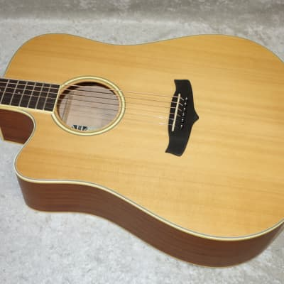 Tanglewood TW10 E LH left handed acoustic electric guitar in natural lefty