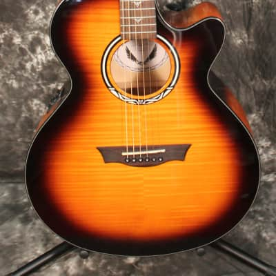 Dean Performer Ultra Flame Maple Tiger Eye Acoustic Electric Guitar for sale