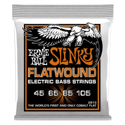 Ernie Ball 2813 Hybrid Slinky Flatwound Electric Bass Strings - .045-.105