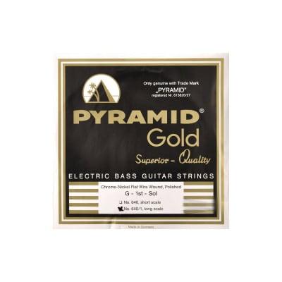 Pyramid 640/1 Gold Chrome Nickel Flatwound Bass Strings 40-105