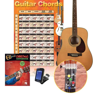 Chordbuddy Dreadnought Acoustic Guitar Holiday Learning Pack - CBHOLGTRPAKK for sale