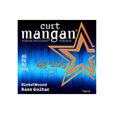 NEW Curt Mangan Nickel Wound Bass Strings - .045-.105
