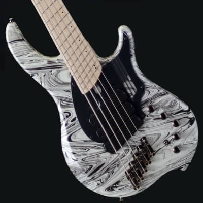 PRE-ORDER Dingwall NG3 Ducati Matte White Swirl (Discontinued Color!) 4, 5, or 6 String - 5 String for sale