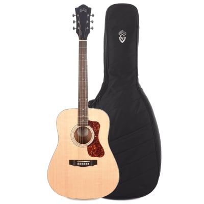 Guild Westerly D-240E Archback Dreadnought Spruce/Mahogany Natural w/Electronics and Deluxe Acoustic Guitar Gig Bag Bundle