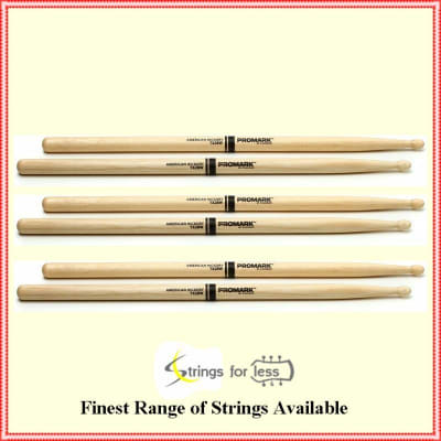 Pro-Mark TX2BW American Hickory Wood Tip 2B Pro Mark 3 Pairs Drum Sticks