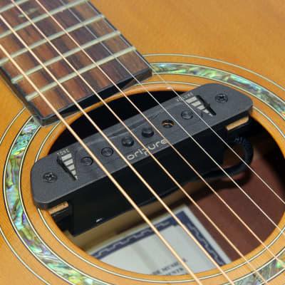 OriPure Magnetic Acoustic Guitar Soundhole Single Coil Passive Pickup, BLACK