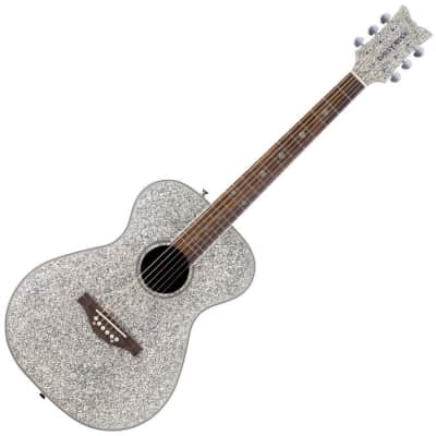 Daisy Rock DR6206-U Girl Guitars Pixie Acoustic Guitar in Silver Sparkle for sale