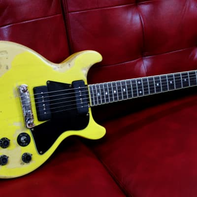 Palermo 1959 Les Paul Special Gibson Conversion Guitar TV Yellow Relic W/ Case for sale