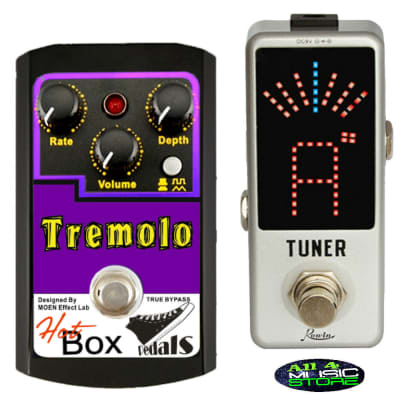 Hot Box Pedals HB-TR TREMOLO Analog Tremolo Guitar Effect Pedal + Tuner True Bypass Ships Free