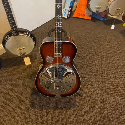 Gold Tone PBR-D Paul Beard Signature Deluxe Round Neck Resonator Two Tone Tobacco for sale