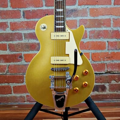 Epiphone Les Paul 56' Reissue  2005 Goldtop W/Bigsby B7 Vibramate Hardshell Case for sale