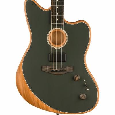 Fender American Acoustasonic Jazzmaster - Tungsten, Ebony Fingerboard