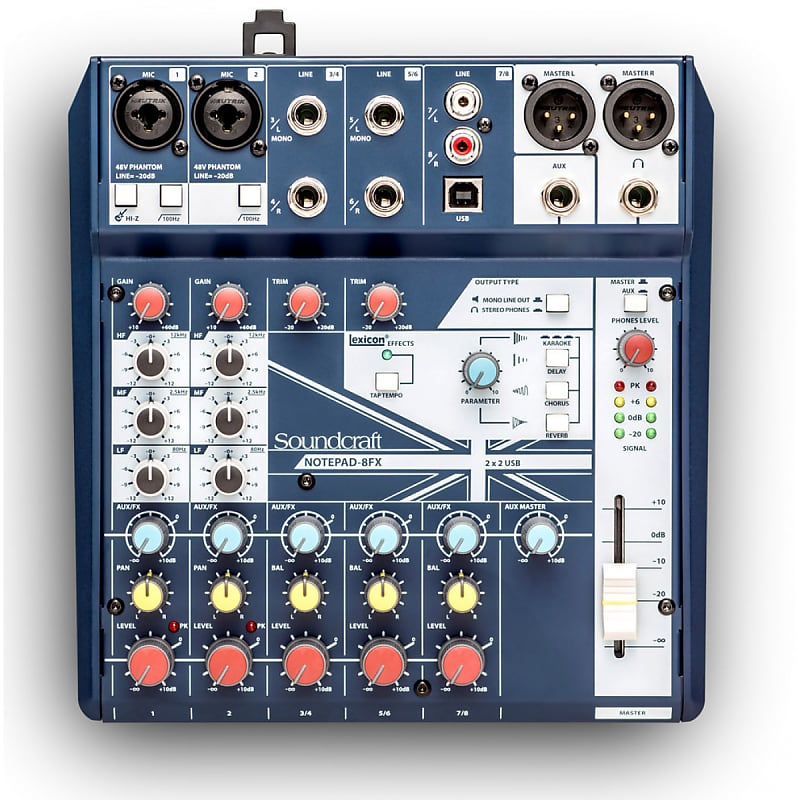 Soundcraft Notepad-8FX 8-Channel Analog Mixing Console w/ USB I/O & Effects