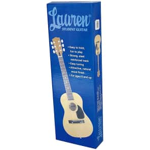 "Lauren LA30 30"" 1/2-Size Kids' Steel String Acoustic Guitar Natural"