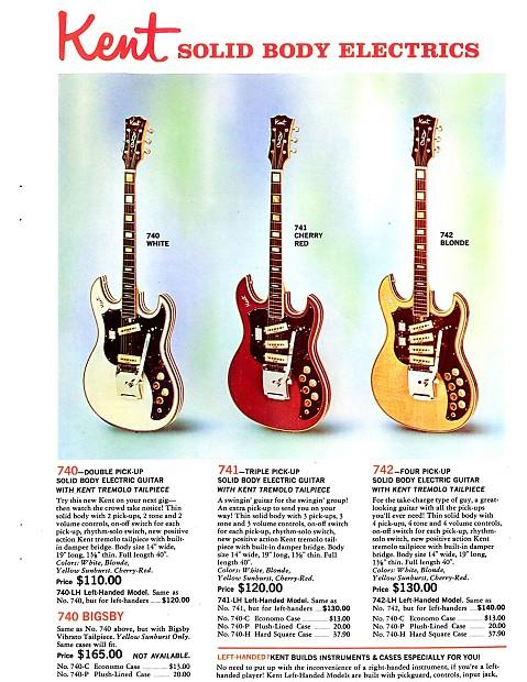 KENT (Kawai/Teisco) Guitar Neck circa '67-'68 [Price Drop! SALE!] (With