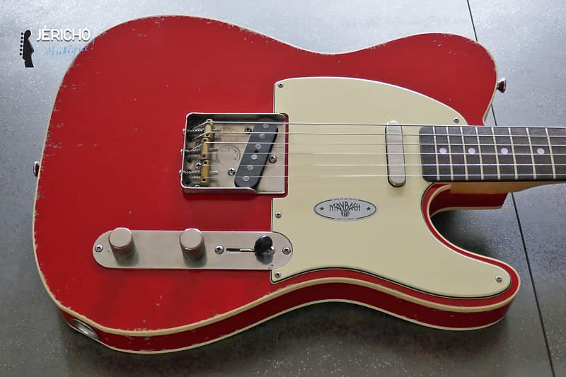 maybach teleman t61 custom red rooster aged | reverb