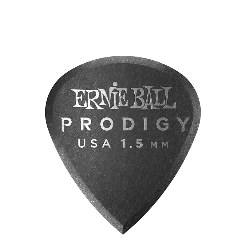 Ernie Ball 1.5mm Black Mini Prodigy Picks 6-pack