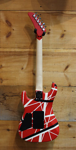 7dc8dfb8b60 EVH Striped Series 5150 Electric Guitar Eddie Van Halen Red Black White  Stripes