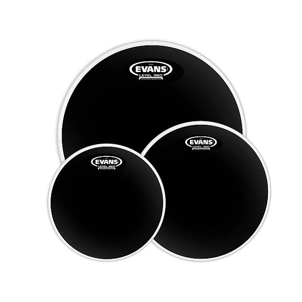 "Evans G1 Clear 3pc Fusion Drum Head Pack 10,12,14/"""