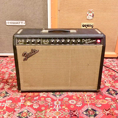 Fender Deluxe Reverb Vintage Blackface Guitar Combo Amp 1966 cbs USA original image