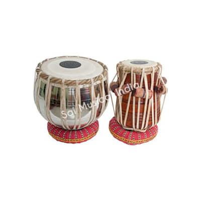 sai musicals Tabla Set, Basic Tabla Drums Set, Steel Bayan, Dayan with Hammer, Cushions and Cover -