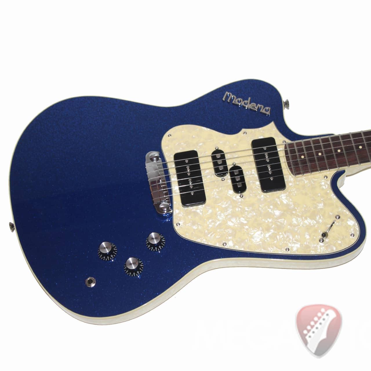 italia modena revolution electric guitar blue sparkle reverb. Black Bedroom Furniture Sets. Home Design Ideas