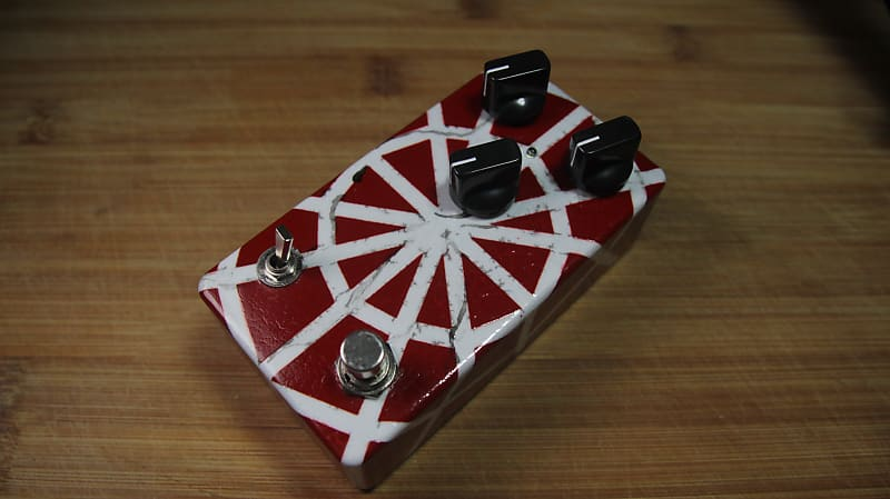 Modified SD-1 Super Overdrive Pedal Clone Distressed Spiderman Colours