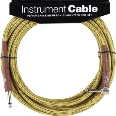 Fender Custom Shop 18.6 Angle Instrument Cable Tweed