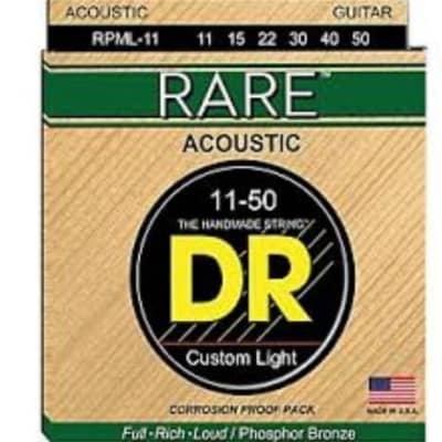 DR RPML-11 Rare Phosphor Bronze .011 - .050 Acoustic Guitar Strings - 3 Sets!