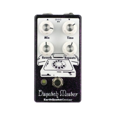 EarthQuaker Devices Dispatch Master V3 Delay and Reverb, Purple Sparkle (Gear Hero Exclusive)