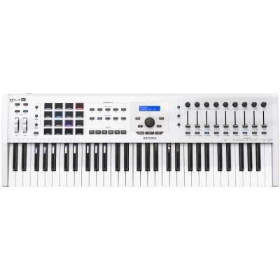 Arturia KeyLab 61 MKII Deluxe MIDI Controller Keyboard, 61 Key, White