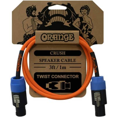 Orange Cables Crush 3ft Speaker Cable Twist Connector to Twist Connector