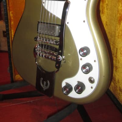 Vintage Original 1965 Epiphone Crestwood Custom Golden Mist Poly for sale