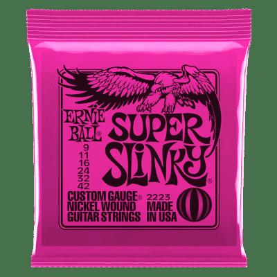Ernie Ball Slinky Nickel Wound Electric Guitar Strings - Super Slinky 9-42