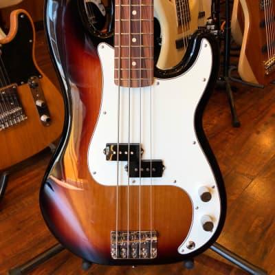 Fender Standard Precision Bass with Pau Ferro Fretboard - Brown Sunburst for sale