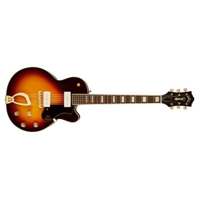 Guild M-75 Aristocrat Hollow Body Guitar, Ebony Fretboard, Antique Sunburst