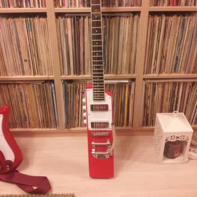 Eastwood La Baye 2x4 DEVO Signature Guitar 2010s Red w/ case Bob Mothersbaugh for sale