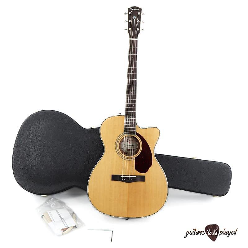 Fender Paramount PM-3 Standard Triple-0 Acoustic/Electric Guitar w/ Case-Natural image