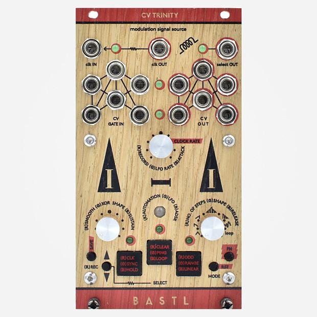 bastl instruments cv trinity wood panel eurorack modulation reverb