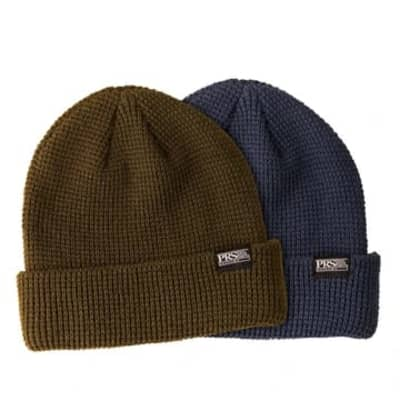 Knitted Beanie PRS with Logo - Slate Blue