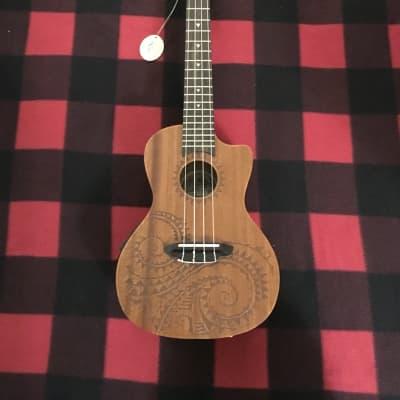 Luna Tattoo Mahogany Concert Ukulele (Acoustic/Electric) for sale