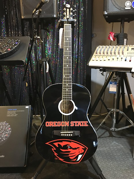 Oregon State Beavers OSU Acoustic Guitar ORST#1 | Drums Etc | Reverb