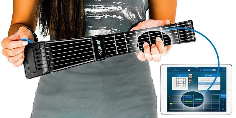 jamstik black portable app enabled midi electric guitar reverb. Black Bedroom Furniture Sets. Home Design Ideas
