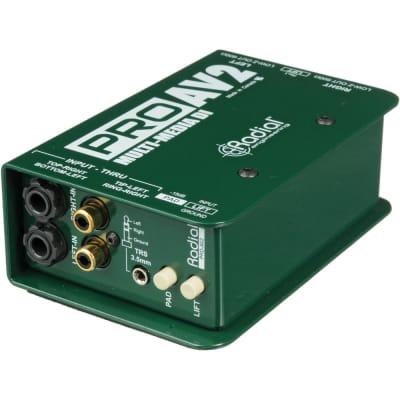 Radial ProAV2 Passive 2 channel DI for AV, RCA 3.5mm XLR