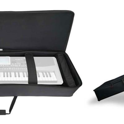 Rockville 61 Key Keyboard Case w/ Wheels+Trolley Handle For Korg PA900