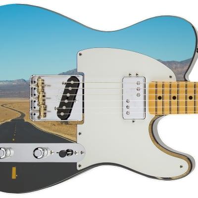 Guitar Skin Cool Desert Landscape Highway Theme Body Wrap Vinyl Sticker Decal Full