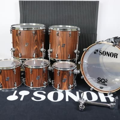 Sonor SQ2 Heavy Beech Rosewood Semi Gloss Inside & Out NAMM 6pc Kit