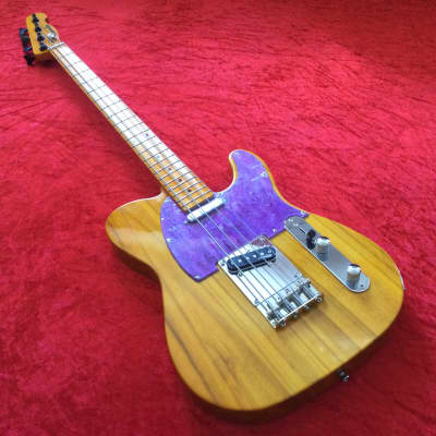 Martyn Scott Instruments Short Scale T Bass Conversion in Yellowed Finish for sale